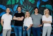 Scramjet (od lewej) Rafał Stokowski, Michał Czapracki (CTO), Natalia Czapracka, Wojciech Sacha i Barbara Koźbiał